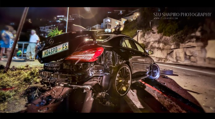 Mercedes-Benz CLA 45 AMG Crashes in South Africa