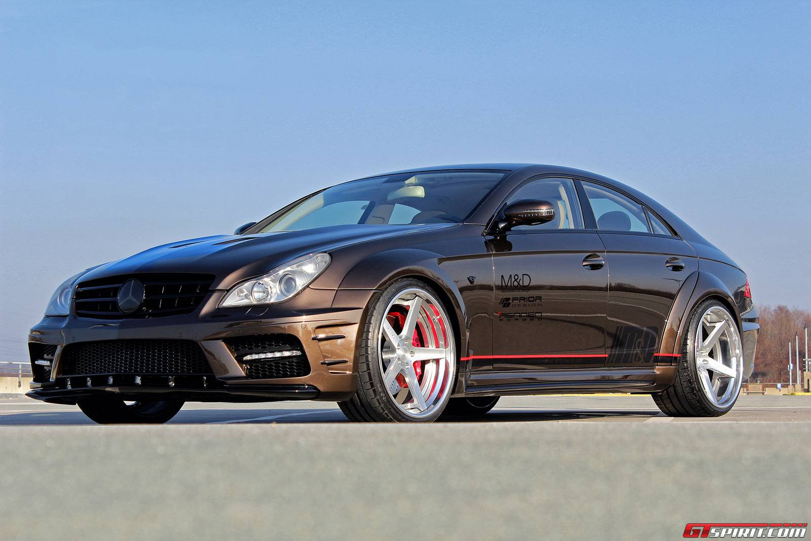 Official prior design mercedes benz cls widebody black for Mercedes benz design