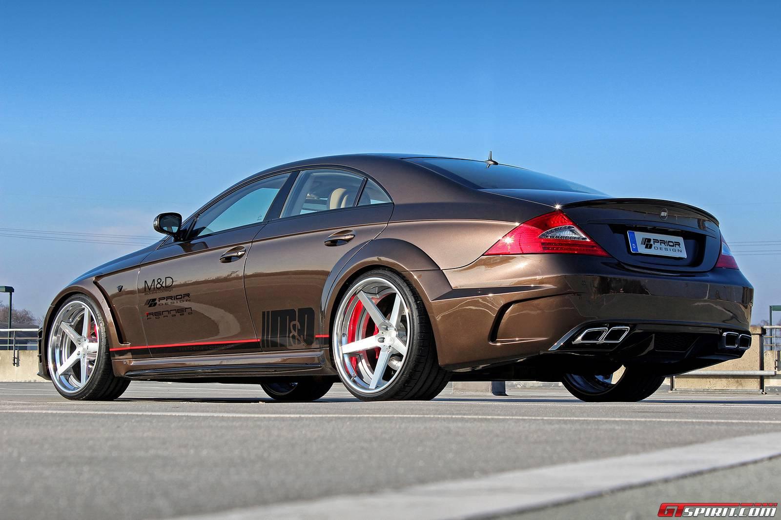 Official prior design mercedes benz cls widebody black for Mercedes benz job openings