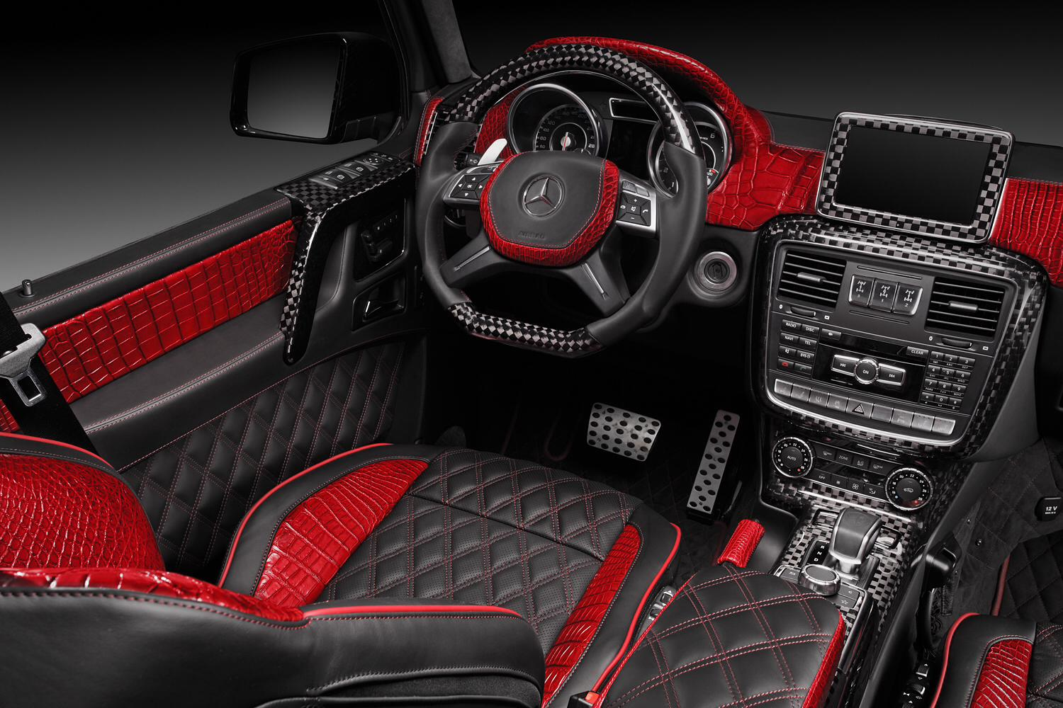 mercedes benz g65 amg with red crocodile leather by topcar gtspirit. Black Bedroom Furniture Sets. Home Design Ideas