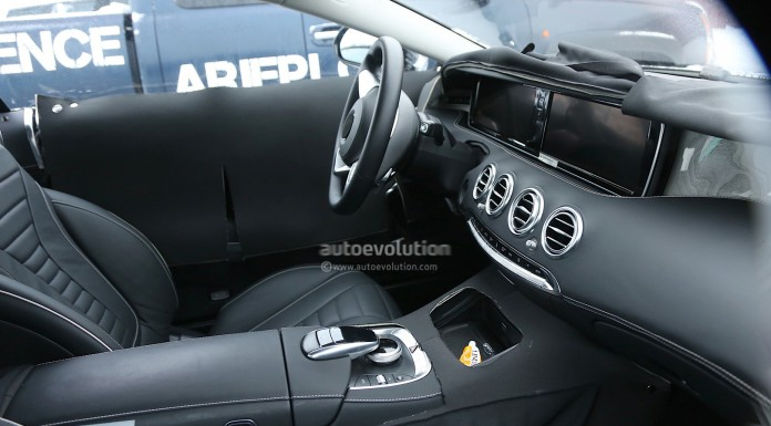 Mercedes-Benz S-Class Coupe Interior Spied