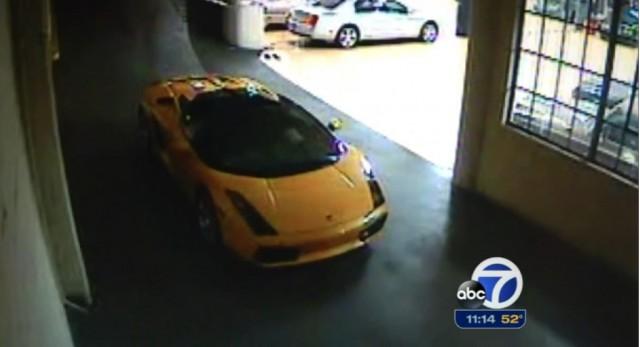 Security Vision Shows Teen Ninja Stealing Guy Fieri's Lamborghini Gallardo