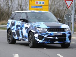 Range Rover Sport RS Prototype Spotted With Unique Blue Wrap