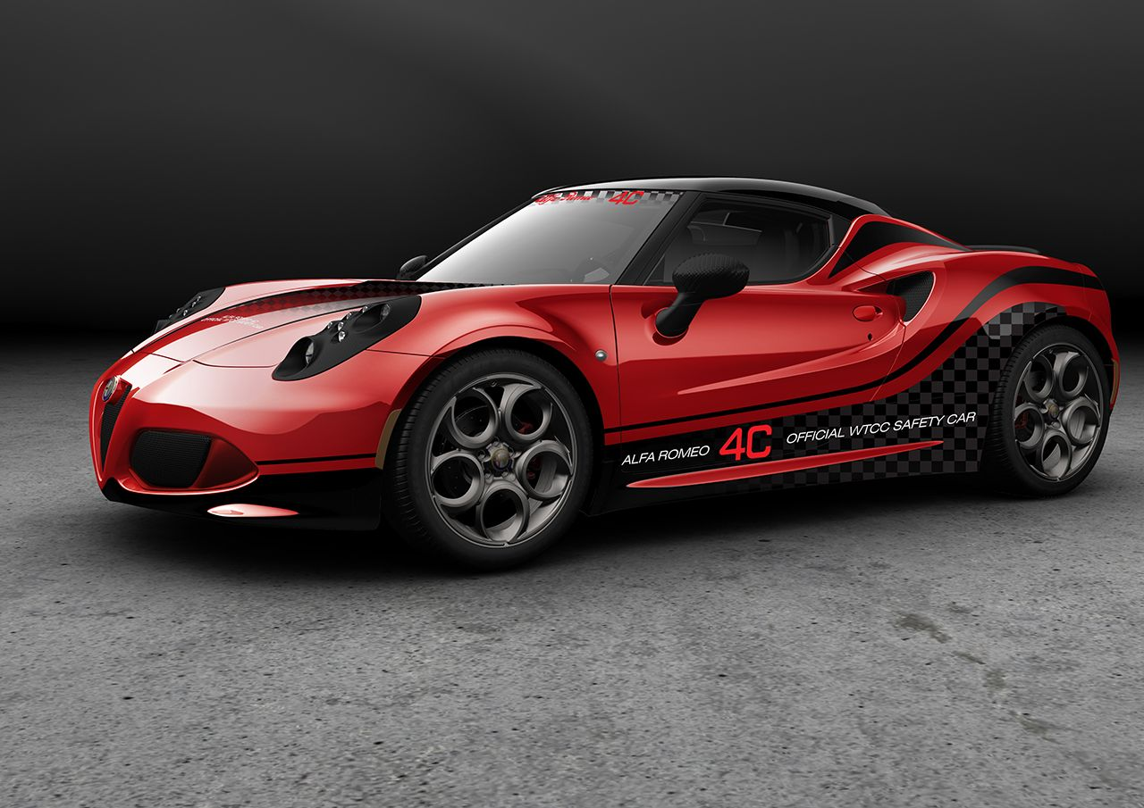 alfa romeo 4c chosen as safety car for wtcc 2014 gtspirit. Black Bedroom Furniture Sets. Home Design Ideas