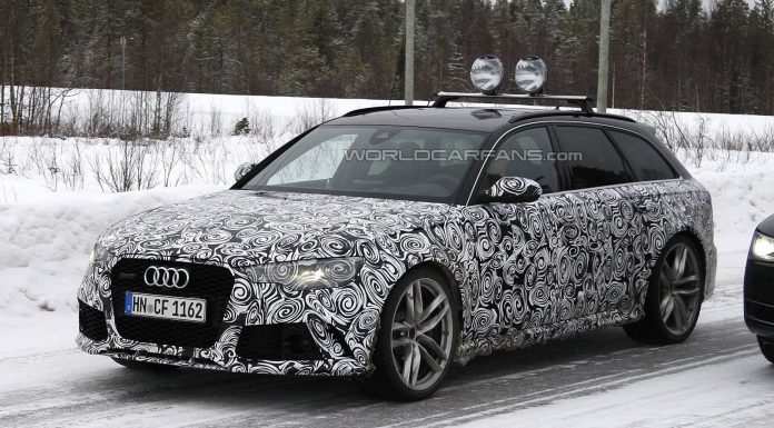 Facelifted Audi RS6 Spied Testing in the Snow