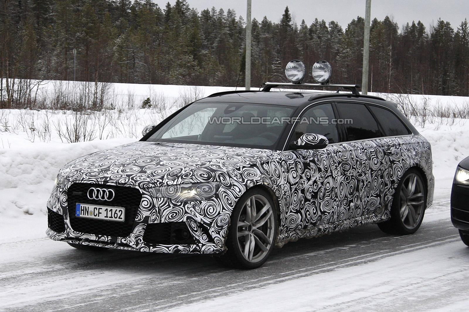 facelifted audi rs6 spied testing in the snow gtspirit. Black Bedroom Furniture Sets. Home Design Ideas
