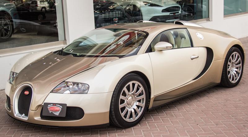 Unique Light Gold Bugatti Veyron For Sale
