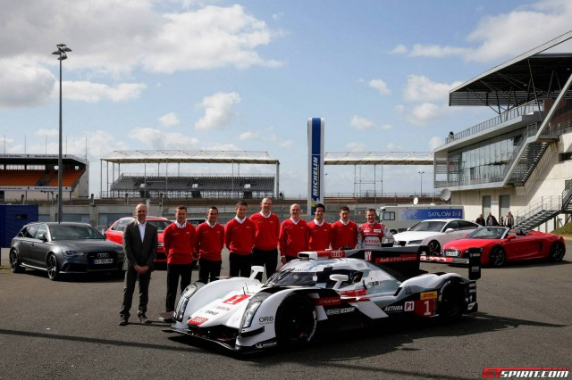 Audi Reveals New R18 e-tron Quattro to Public at Le Mans