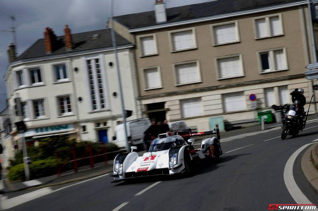 Video: 2014 Audi R18 e-tron Quattro Hits Streets of Le Mans