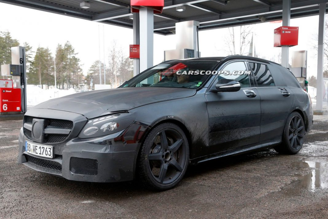 Next Mercedes-Benz C63 AMG Estate Spied for the First Time