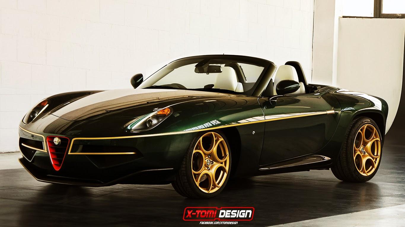 Alfa Romeo Disco Volante >> Green And Gold Alfa Romeo Disco Volante Spider Imagined Gtspirit
