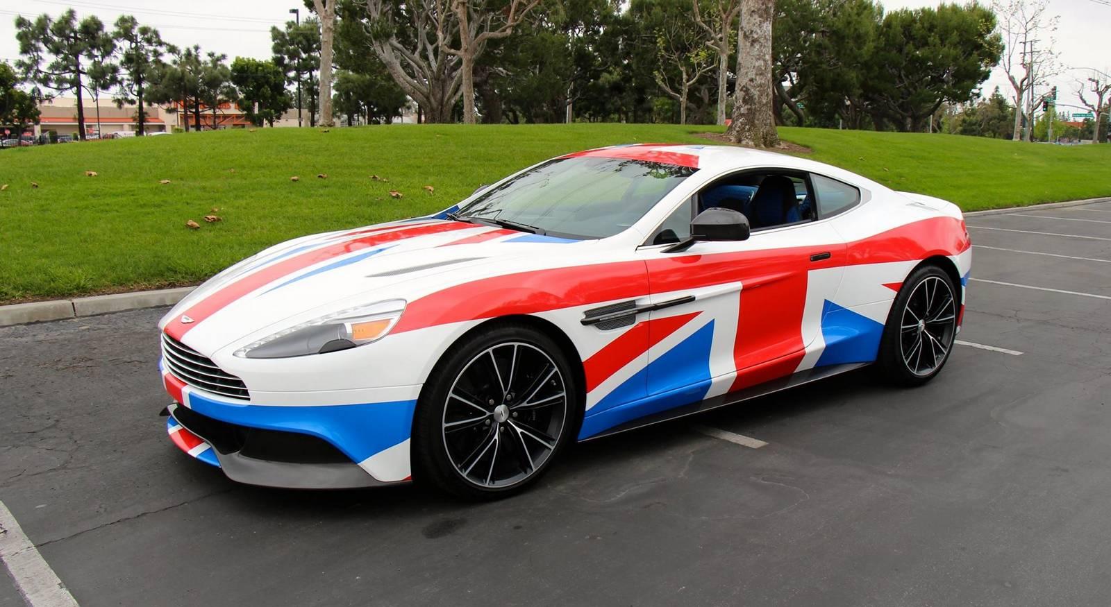 Union Jack Wrapped Aston Martin Vanquish Gtspirit