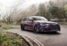Deep Purple Audi RS6 Avant on ADV.1 Wheels Glows