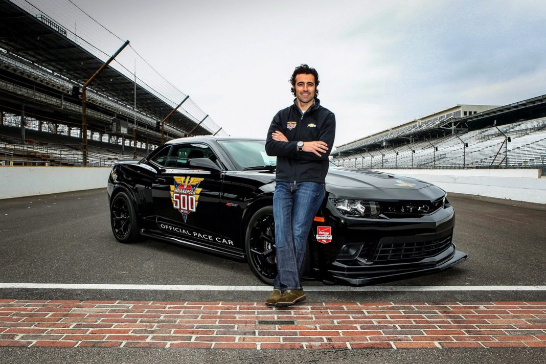 Dario Franchitti Driving Chevrolet Camaro Z/28 Pacecar at Indy 500