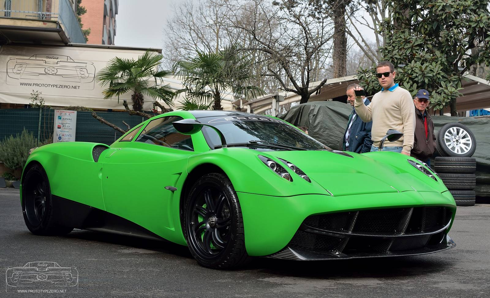 Lime Green Pagani Huayra Spotted In Modena Gtspirit