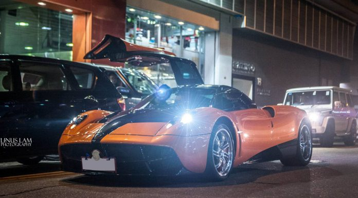 Second Orange Pagani Huayra Arrives in Hong Kong