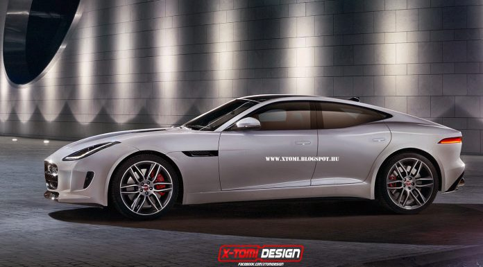 Jaguar F-Type Coupe Based Sports Sedan Rendered