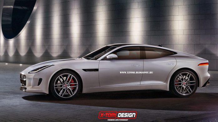 Jaguar F-Type Coupe Based Sports Sedan Rendered