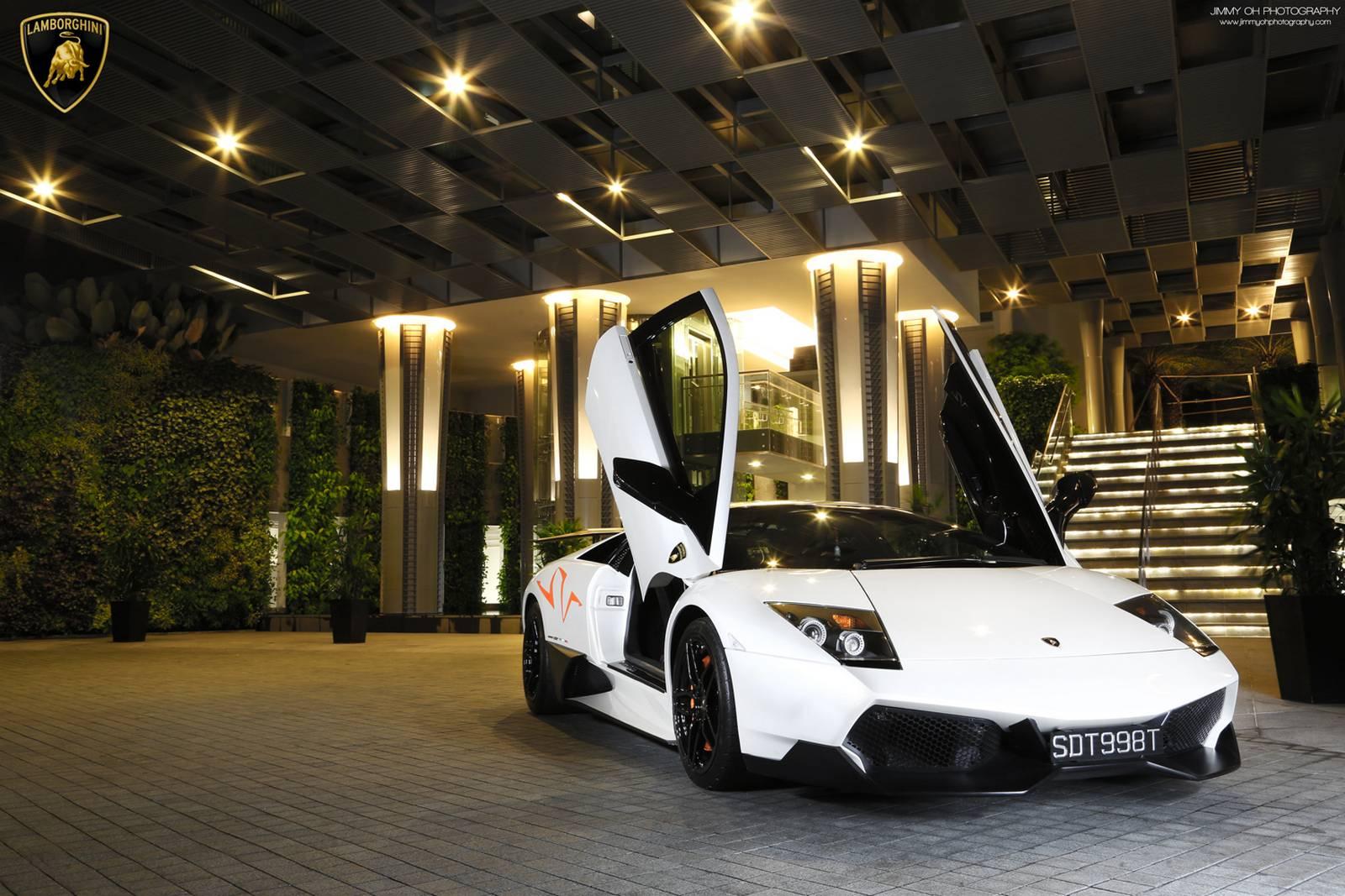 White Lamborghini Murcielago Lp670 4 Sv Photoshoot Gtspirit