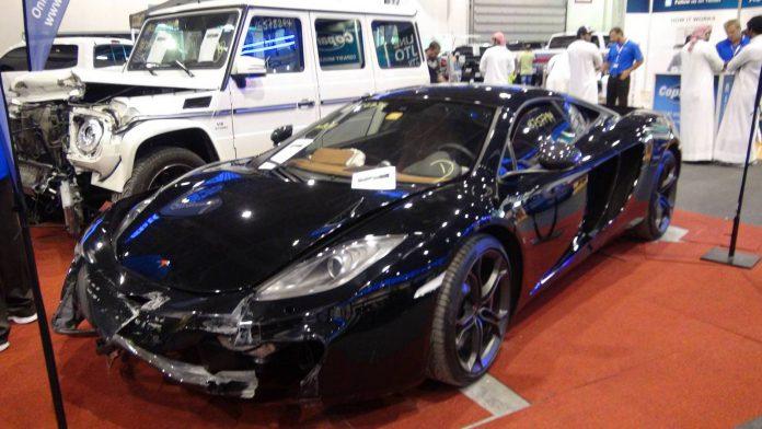 Wrecked McLaren 12C Up for Sale