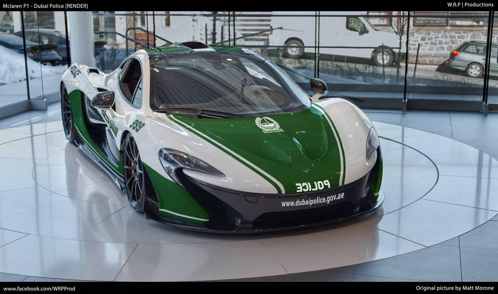 Render: Dubai Police McLaren P1 - GTspirit