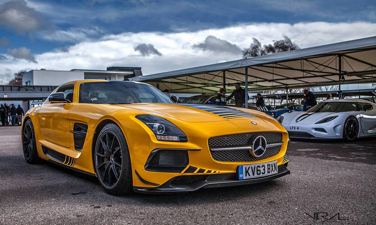 car news mercedes sls amg yellow mercedes benz sls amg black series