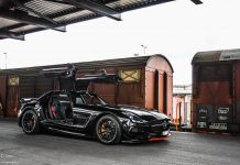 Black Mercedes-Benz SLS AMG Black Series Photoshoot