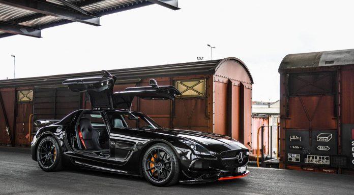 Black Mercedes-Benz SLS AMG Black Series Photoshoot