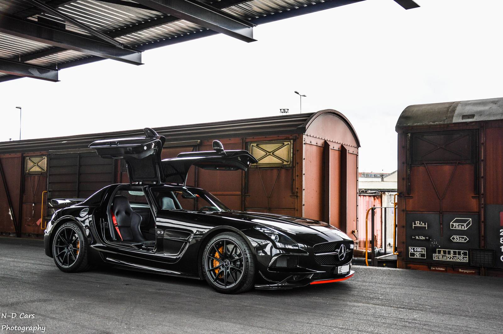 Black Mercedes Benz Sls Amg Series Photoshoot
