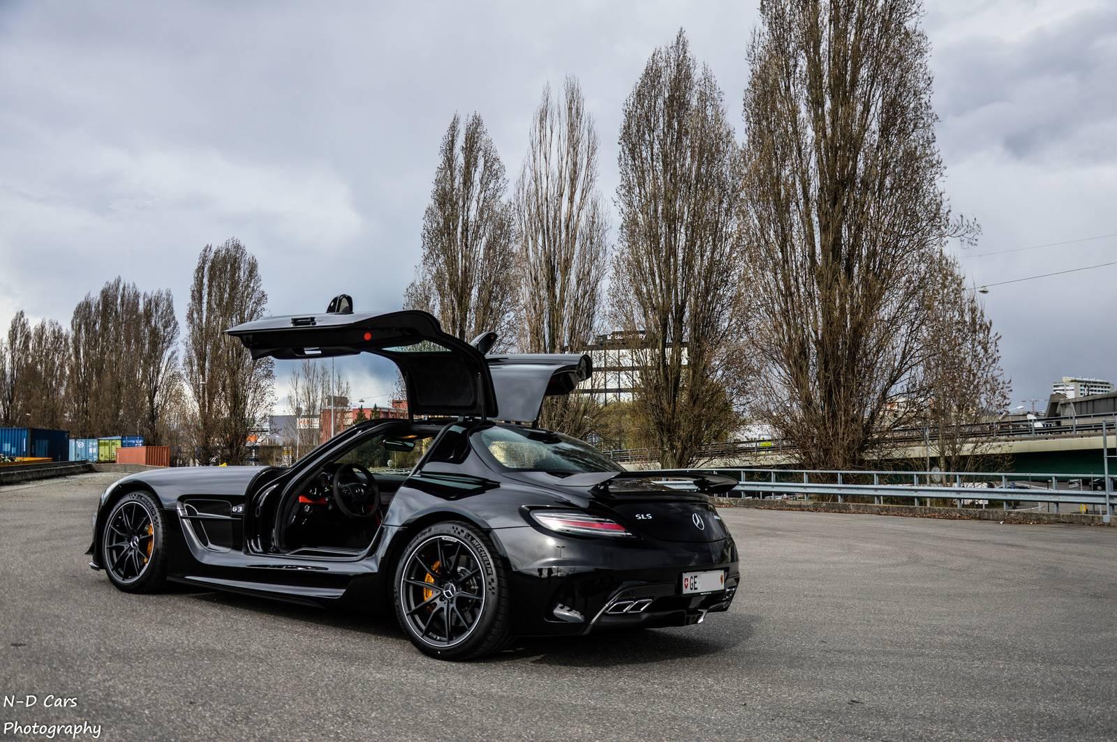 Sls Black Series >> Black Mercedes Benz Sls Amg Black Series Photoshoot Gtspirit