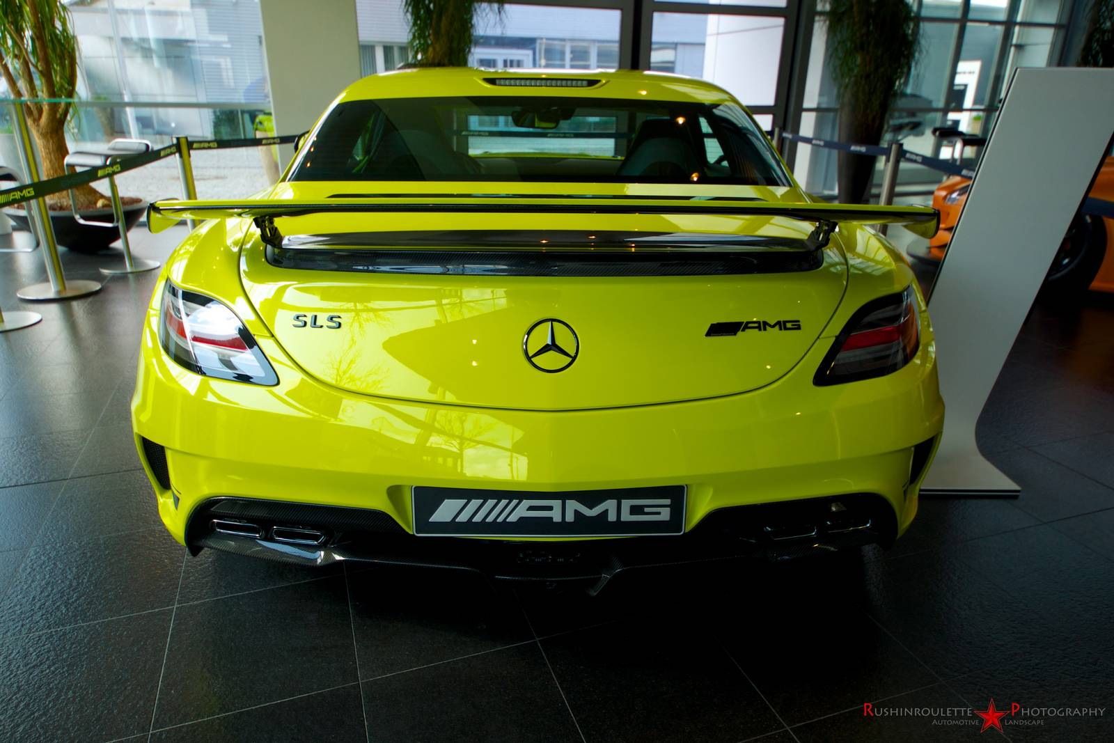 neon yellow mercedes benz sls amg black series