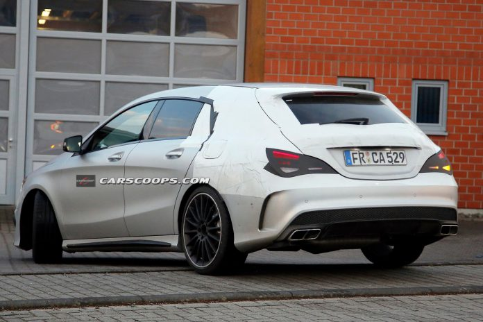 Mercedes-Benz CLA 45 AMG Shooting Brake Continues Taking Shape