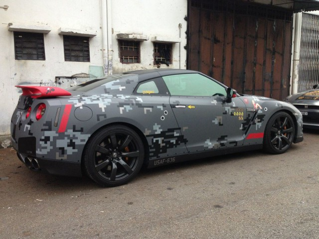 Digital Camo Nissan GT-R by Motorsports Playground