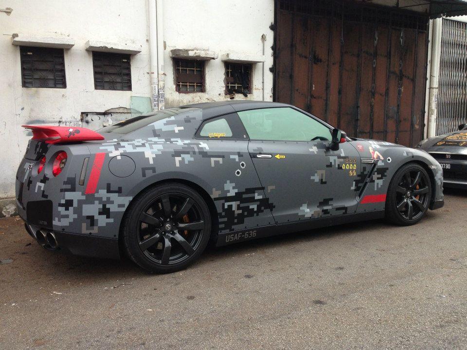 Digital Camo Nissan Gt R By Motorsports Playground Gtspirit