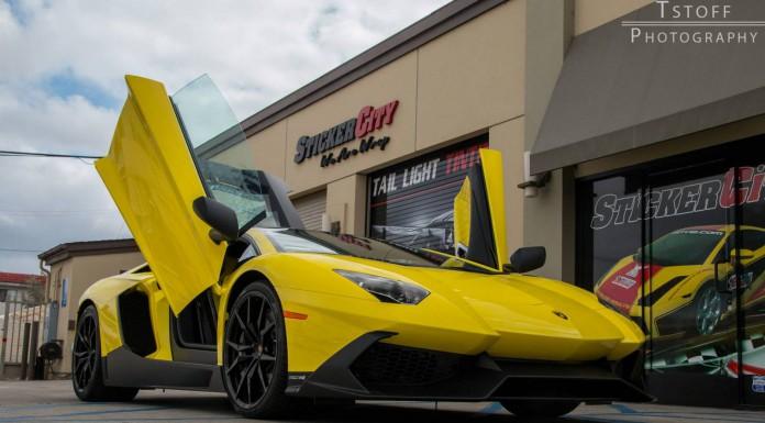 Lamborghini Aventador 50th Anniversario + McLaren 12C Photoshoot