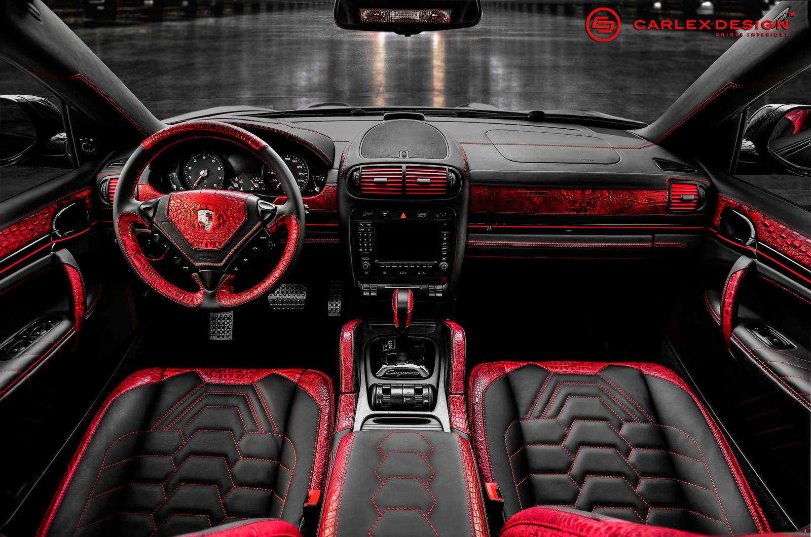 official porsche cayenne by carlex design gtspirit. Black Bedroom Furniture Sets. Home Design Ideas