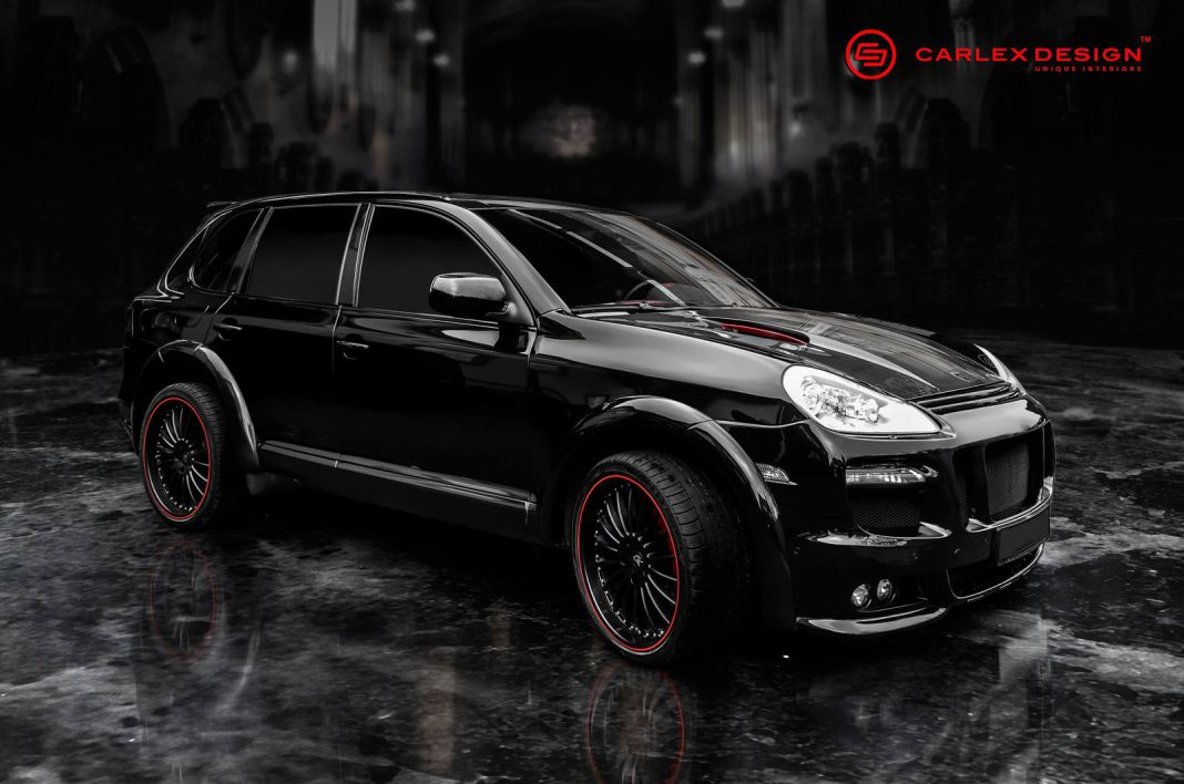 Porsche Cayenne with Red Crocodile Interior by Carlex Design