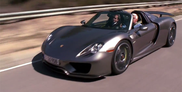 Jay Leno Drives Production-Spec Porsche 918 Spyder