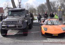 Lamborghini Murcielago SV vs Mercedes 6x6 AMG Size Comparison is Shocking