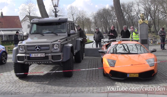 Lamborghini Murcielago SV vs Mercedes 6x6 AMG Size Comparison is Shocking