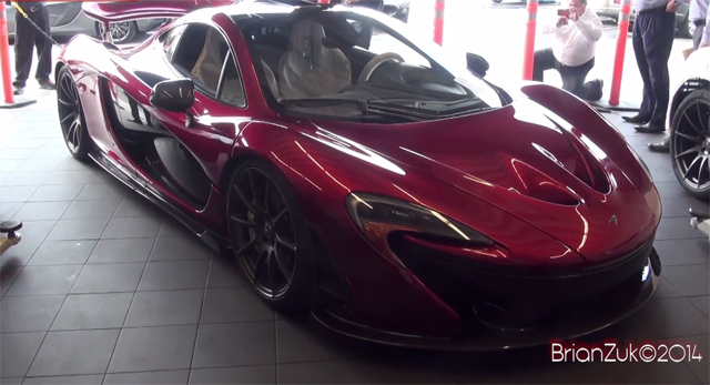 Volcano Red McLaren P1 Delivered in San Francisco