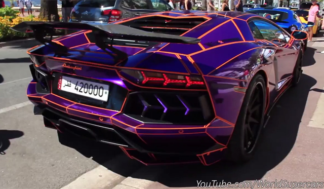 Decatted 'Tron' Lamborghini Aventador Screams in Cannes