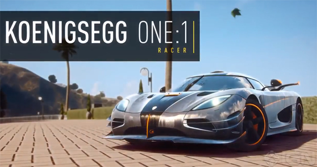 Insane Koenigsegg One:1 Already Available on Need For Speed Rivals