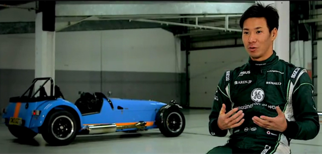Kamui Kobayashi Drives Caterham 620R