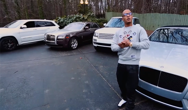 T I Shows Off His Impressive Car Collection