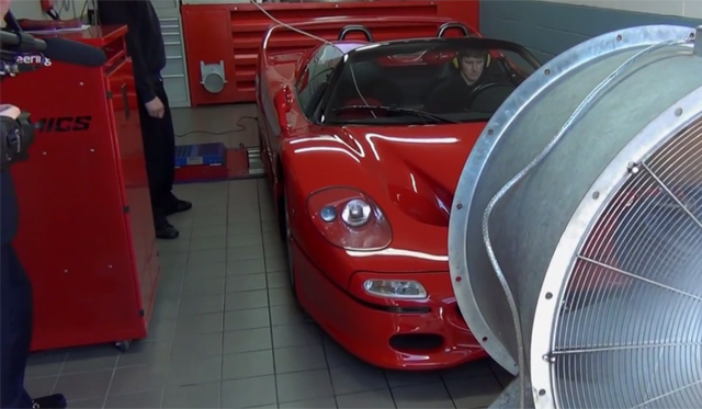Ferrari F50 Screams With Straight Pipes on Dyno