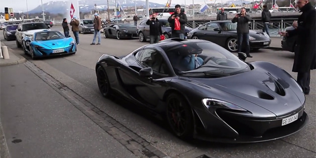 Two McLaren P1s Spotted Together in Geneva