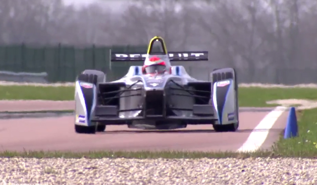 Jarno Trulli Tests the 2014 Formula E Racer