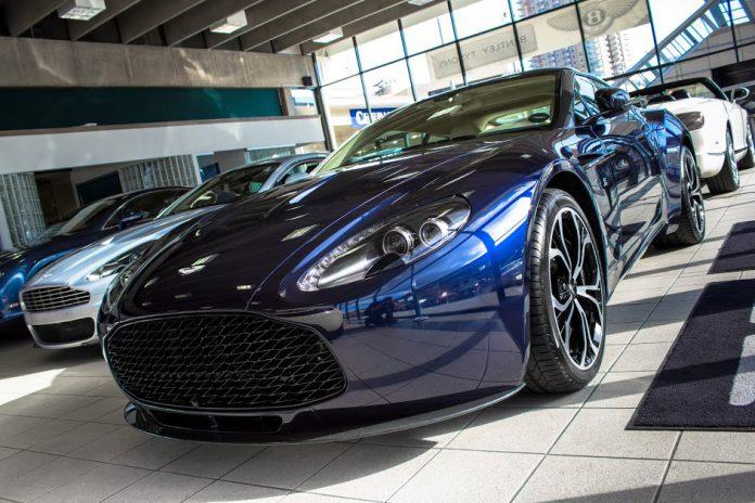 Beautiful Blue Aston Martin V12 Zagato For Sale in the U.S.