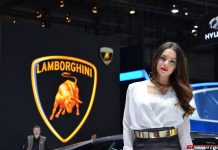 Girls at the Geneva Motor Show 2014